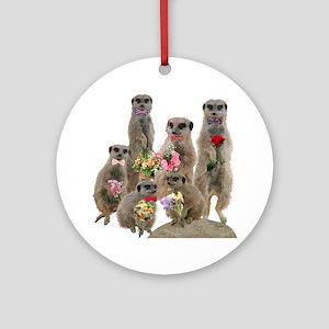 Meerkat Ornament (Round)