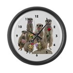 Meerkat Large Wall Clock