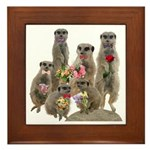 Meerkat Framed Tile