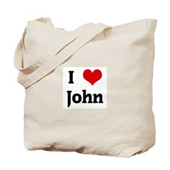 I Love John Tote Bag