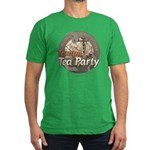 Tampa Tax Day Tea Party Men's Fitted T-Shirt (dark
