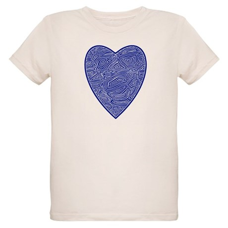 Blue Heart Organic Kids T-Shirt