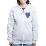 Blue Heart Women's Zip Hoodie