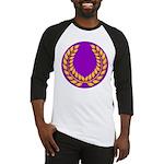 Purple with gold laurel Baseball Jersey