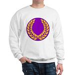 Purple with gold laurel Sweatshirt