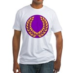 Purple with gold laurel Fitted T-Shirt