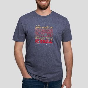 Christmas Pit Bull Who Needs an Electric B T-Shirt