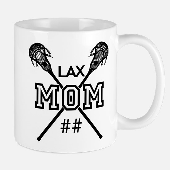 Lacrosse Mom Number Personalized Mug
