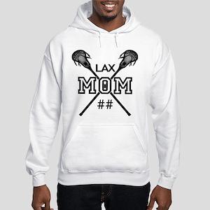 Lacrosse Mom Number Personalized Hooded Sweatshirt