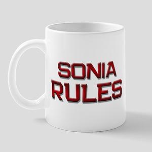 sonia rules Mug