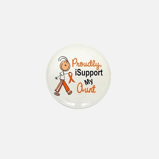 iSupport My Aunt SFT Orange Mini Button