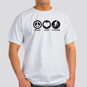 Peace Love Cycling (Female) Light T-Shirt