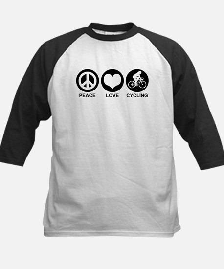 Peace Love Cycling (Female) Kids Baseball Jersey