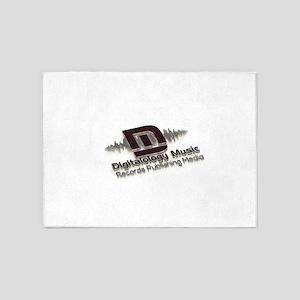 Digitalology Music 5'x7'Area Rug