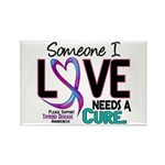 Needs A Cure 2 THYROID DISEASE Rectangle Magnet (1