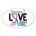 Needs A Cure 2 THYROID DISEASE Sticker (Oval 10 pk