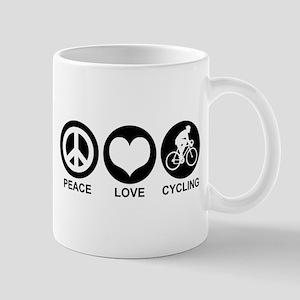 Peace Love Cycling (Male) Mug