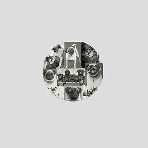 Vintage Pugs Mini Button