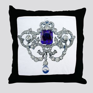 Diamonds Costume Jewelry BIG 18x18 Throw Pillow