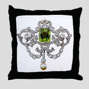 Diamonds Costume Jewelry Throw Pillow