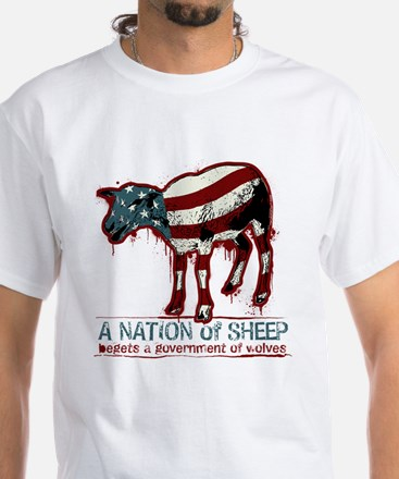 A Nation of Sheep White T-Shirt