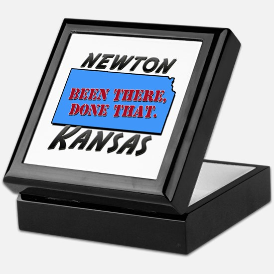 newton kansas - been there, done that Keepsake Box