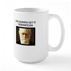 ID Darwin Backwards Large Mug