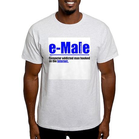 e-Male Ash Grey T-Shirt