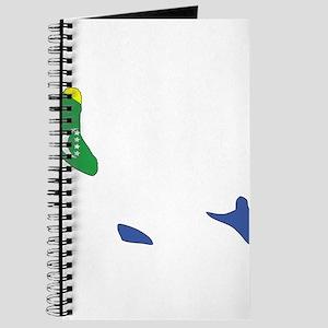 Comoros Flag Map Journal