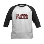 shauna rules Kids Baseball Jersey