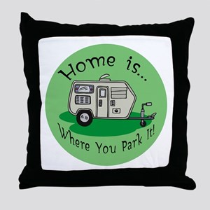 Trailer Park Home Throw Pillow