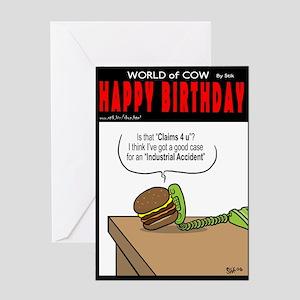 Burger Law Greeting Card