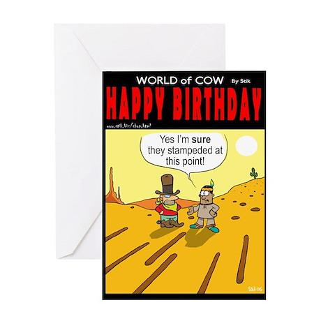 Stampede? Greeting Card