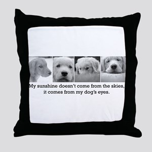 My Dog's Eyes Throw Pillow