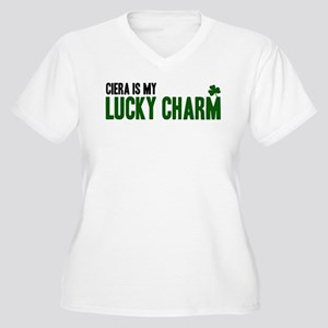 Ciera (lucky charm) Women's Plus Size V-Neck T-Shi