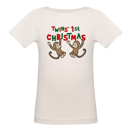 My First Christmas Gingerbrea Organic Baby T-Shirt