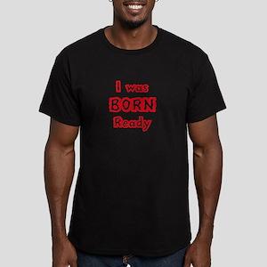 Born Ready Men's Fitted T-Shirt (dark)