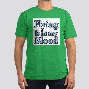 Flying in my blood on backsid Men's Fitted T-Shirt