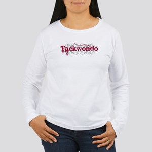 Taekwondo Red Women's Long Sleeve T-Shirt