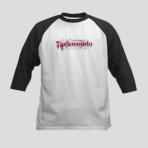 Taekwondo Red Kids Baseball Jersey