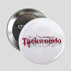"""Taekwondo Red 2.25"""" Button"""