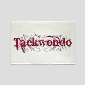 Taekwondo Red Rectangle Magnet