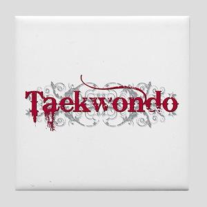 Taekwondo Red Tile Coaster