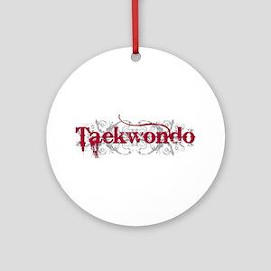 Taekwondo Red Ornament (Round)