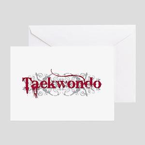 Taekwondo Red Greeting Card