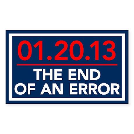 End Of An Error Rectangle Sticker