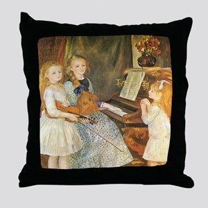 Renoir Daughters of Catulle Mendes Throw Pillow
