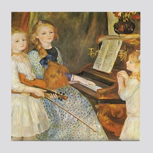 Renoir Daughters of Catulle Mendes Tile Coaster