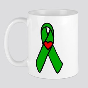 heart transplant ribbon Mug