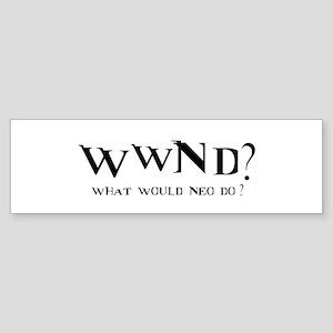 WWND? Neo Bumper Sticker
